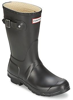 Hunter Women's Original Short women's Wellington Boots in Black