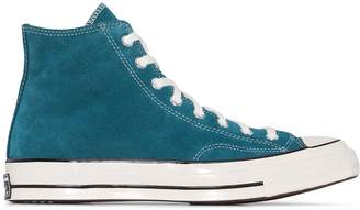 Converse Blue Chuck 70 suede low top sneakers