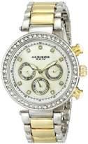 Akribos XXIV Women's AK681TTG Lady Diamond Quartz Two-Tone Bracelet Watch