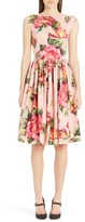 Dolce & Gabbana Women's Rose Print Cotton Poplin Dress