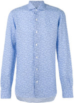 Barba fine floral print shirt - men - Linen/Flax - 39