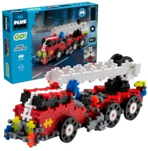 Plus Plus Plus-Plus - Go! 360 Pieces Fire Fighter Truck - Model Vehicle Building Steam Toy