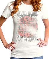 Goodie Two Sleeves Ivory David Bowie Live in Japan Tee - Women