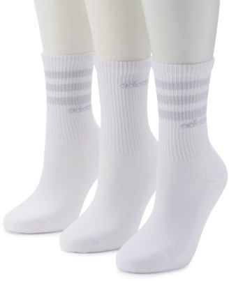 adidas Women's 3-Pack climalite Striped Crew Socks
