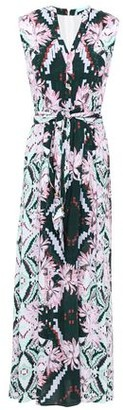 Melissa Odabash Honey Belted Printed Voile Maxi Dress