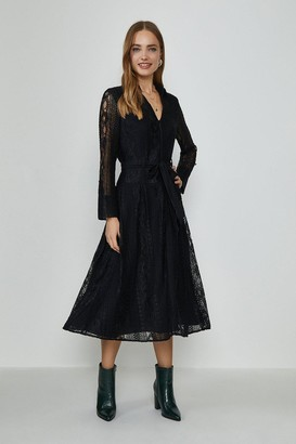 Coast Lace Long Sleeve Midi Dress