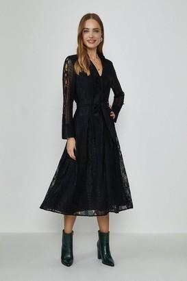 Coast Lace Long Sleeve Midi Dress