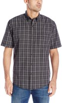 Arrow Men's Short Sleeve Seaside Textured Plaid Shirt