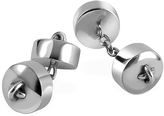 Forzieri Button Sterling Silver Double Sided Cufflinks