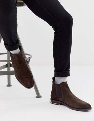 Tommy Hilfiger chelsea boots in brown suede