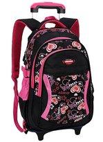 JOYORUN Girls School Bag with Wheels Rolling Backpack for Kid