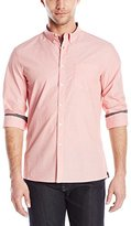 Kenneth Cole New York Men's Long Sleeve Button Down Collar End on End Shirt
