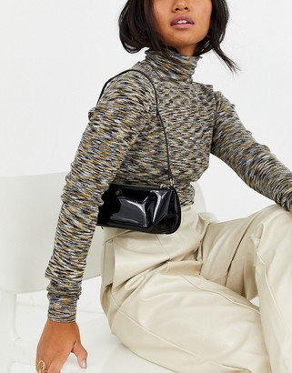 Asos Design DESIGN mini 90s shoulder bag in patent