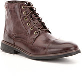 Rockport Men's Tailoring Guide Leather Cap Toe Lace Up Boots