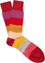Paul Smith Wide-striped cotton-blend socks