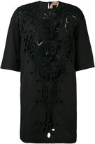 No.21 lace detail shift dress