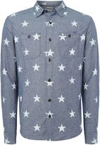 Denim And Supply Ralph Lauren Regular Fit All-over Star Print Long Sleeve Shirt