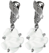 Oscar de la Renta Resin Flower C Earrings