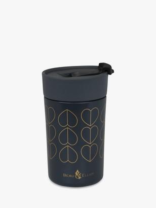 Beau & Elliot Dove Insulated Travel Mug, Black/Gold, 350ml