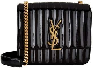 Saint Laurent Large Patent Vicky Matelasse Shoulder Bag