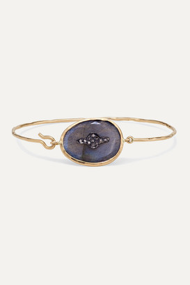 Pascale Monvoisin Garance N2 9-karat Rose Gold, Sterling Silver, Labradorite And Diamond Bracelet - one size