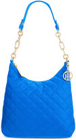 Tommy Hilfiger Isabella Quilted Nylon Hobo