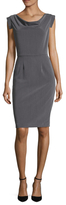 Ava & Aiden Cowlneck Sheath Dress
