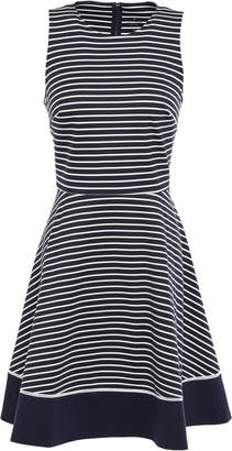 Kate Spade Striped Stretch-jersey Mini Dress