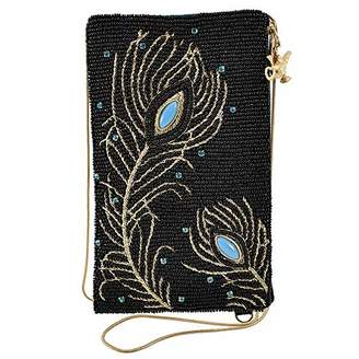 Mary Frances Shimmering Feathers Crossbody Phone Bag