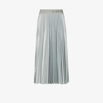 Givenchy X Browns 50 pleated midi skirt