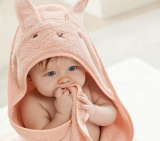 Pottery Barn Kids Super Soft Bunny Baby Hooded Towel & Washcloth Set