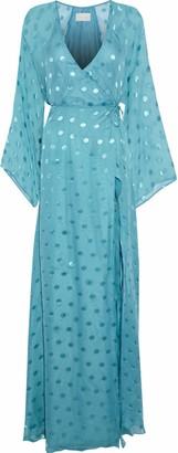 Mason by Michelle Mason Silk-blend Fil Coupe Chiffon Wrap Gown