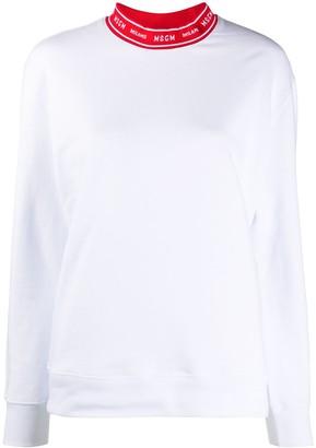 MSGM Logo-Collar Sweatshirt