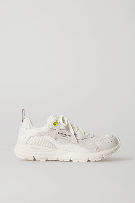 Brandblack Nomo Mesh, Nubuck And Leather Sneakers - White