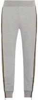 Moncler Contrast-stripe cotton track pants