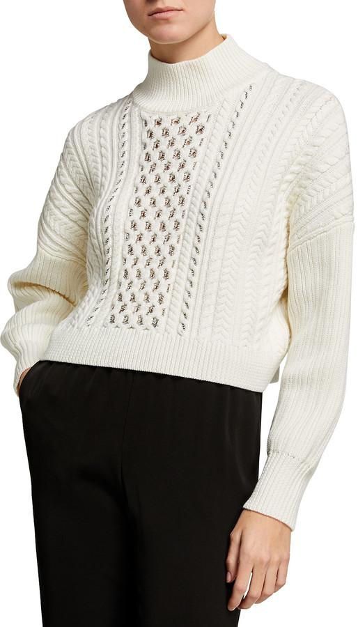 Jonathan Simkhai Gia Cable-Knit Turtleneck Sweater