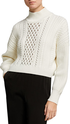 Jonathan Simkhai Gia Cable-Knit Turtleneck Sweater