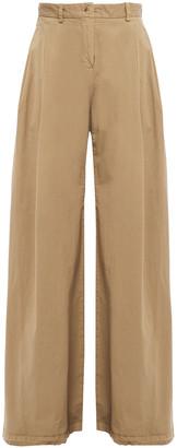 Nili Lotan Cotton-blend Twill Wide-leg Pants