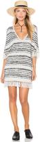 Chaser Fringe V-Neck Sweater Dress