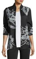 Misook Embroidered Knit Jacket