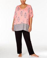 Ellen Tracy Plus Size Caftan Top and Pants Pajama Set