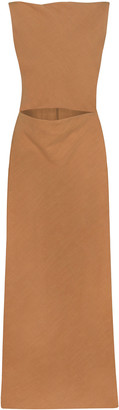 BEVZA Sofia Linen Cutout Dress