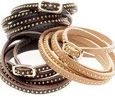 Vale. Leather Studded Wrap Bracelet