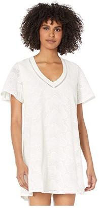 Show Me Your Mumu Crystal Tunic Dress (White Eyelet) Women's Clothing