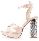 Charlotte Russe Embellished Heel Platform Sandals