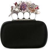 Alexander McQueen Knuckle flower clutch - women - Silk/Pearls/metal/glass - One Size