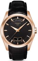 Tissot Couturier Men's Black Automatic Leather Strap Watch, 39mm