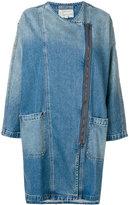 Current/Elliott long zipped jacket - women - Cotton - 0