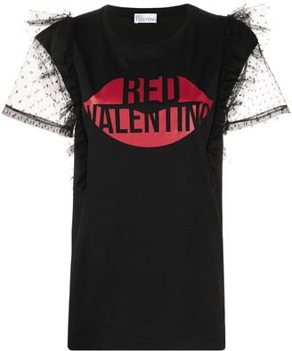 RED Valentino Lips Logo Top