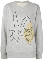 Peter Jensen Rabbit and SpongeBob print sweatshirt
